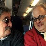 Jimmy im Zug mit Eugene Chadbourne